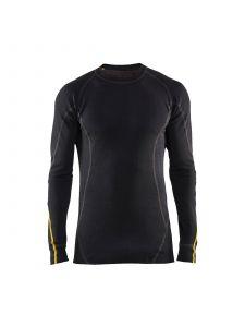 Flame Retardant Underwear Top, 78% Merino Wool 4794 Zwart - Blåkläder
