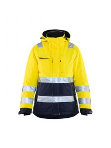 Ladies High Vis Winter Jacket 4872 High Vis Geel/Marineblauw - Blåkläder