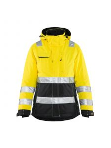 Ladies High Vis Winter Jacket 4872 High Vis Geel/Zwart - Blåkläder