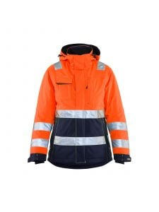 Ladies High Vis Winter Jacket 4872 High Vis Oranje/Marineblauw - Blåkläder