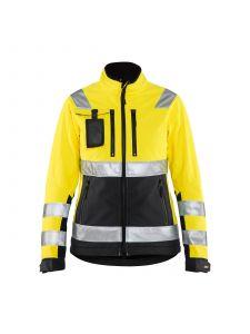 Ladies High Vis Softshell Jacket 4902 High Vis Geel/Zwart - Blåkläder