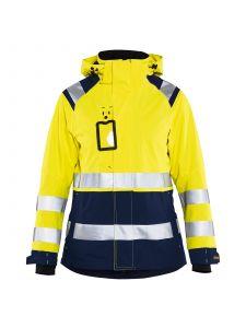 Ladies High Vis Shell Jacket 4904 High Vis Geel/Marineblauw - Blåkläder