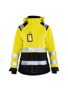 Ladies High Vis Shell Jacket 4904 High Vis Geel/Zwart - Blåkläder
