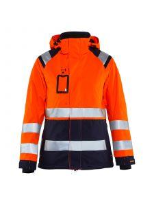 Ladies High Vis Shell Jacket 4904 High Vis Oranje/Marineblauw - Blåkläder