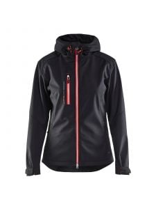 Ladies Softshell Jacket 4919 Zwart/Rood - Blåkläder