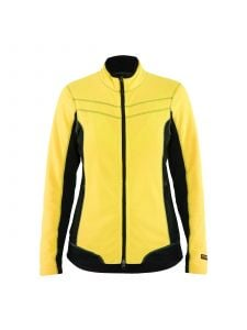 Ladies Micro Fleece Jacket 4924 High Vis Geel/Zwart - Blåkläder