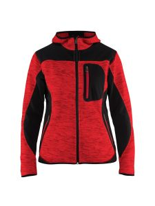 Blåkläder 4931-2117 Women's Knitted Jacket with Softshell - Red
