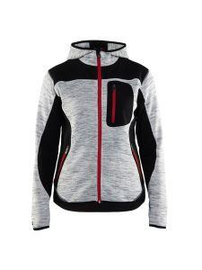 Blåkläder 4931-2117 Women's Knitted Jacket with Softshell - Grey Melange