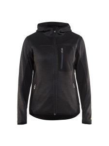 Blåkläder 4931-2117 Women's Knitted Jacket with Softshell - Dark Grey