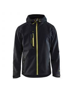 Softshell Jack 4949 Zwart/High Vis Geel - Blåkläder