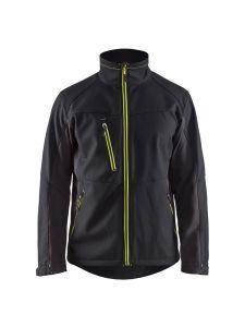 Blåkläder 4950-2516 Softshell Jacket - Black/High Vis Yellow