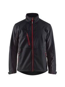 Blåkläder 4950-2516 Softshell Jacket - Black/Red
