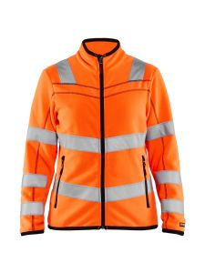 Ladies Microfleece Jacket High Vis 4966 Orange - Blåkläder
