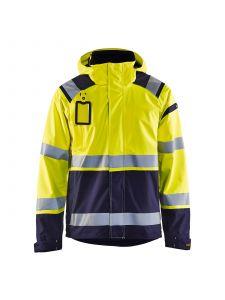 High Vis Shell Jacket 4987 High Vis Geel/Marineblauw - Blåkläder