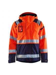 High Vis Shell Jacket 4987 High Vis Oranje/Marineblauw - Blåkläder