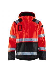 High Vis Shell Jacket 4987 High Vis Rood/Zwart - Blåkläder