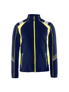 Micro Fleece Jacket 4993 Marine/High Vis Geel - Blåkläder