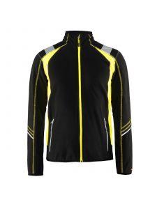 Micro Fleece Jacket 4993 Zwart/High Vis Geel - Blåkläder