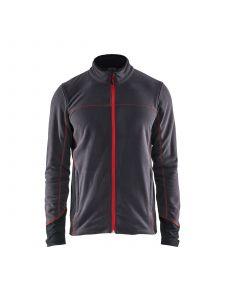 Branded Super Light Fleece 4995 Donkergrijs/Rood - Blåkläder