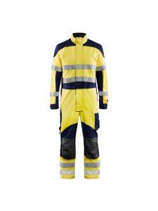 Multinorm Overall Inherent 6089 High Vis Geel/Marineblauw - Blåkläder