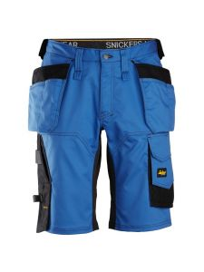 Snickers 6151 AllroundWork, Stretch Loose fit Korte Werkbroek met Holsterzakken - True Blue