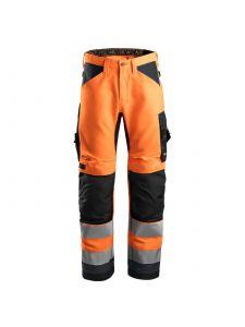 Snickers 6331 AllroundWork, High-Vis Werkbroek+ Klasse 2 - Orange/Steel Grey