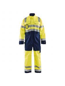 High Vis Overall 6373 High Vis Geel/Marine - Blåkläder