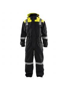 Shell Coverall 6786 Zwart/High Vis Geel - Blåkläder