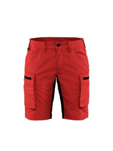 Ladies Service Shorts With Stretch 7149 Rood/Zwart - Blåkläder