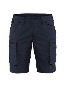 Ladies Service Shorts With Stretch 7149 Marineblauw/Zwart - Blåkläder