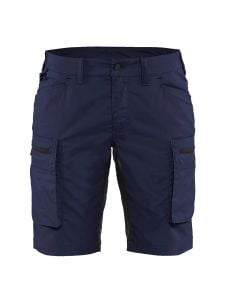 Ladies Service Shorts With Stretch 7149 Donker Marineblauw/Zwart - Blåkläder
