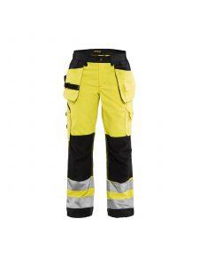 Ladies High Vis Trousers 7156 High Vis Geel/Zwart - Blåkläder