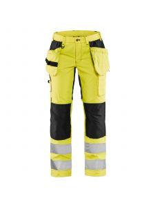 Ladies High Vis Trousers With Stretch 7163 High Vis Geel/Zwart - Blåkläder