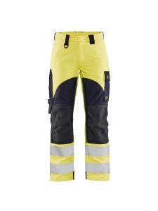 Ladies Multinorm Inherent Trouser 7189 Yellow/Navy - Blåkläder