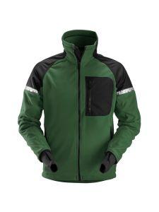 Snickers 8005 AllroundWork, Windproof Fleece Jack - Forest Green