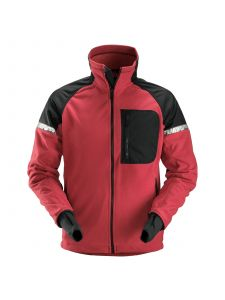 Snickers 8005 AllroundWork, Windproof Fleece Jack - Chili Red