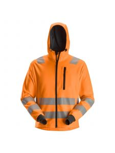 Snickers 8039 AllroundWork, High-Vis Hoodie met Zipper KL2 / KL3 - High Vis Orange