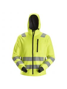 Snickers 8039 AllroundWork, High-Vis Hoodie met Zipper KL2 / KL3 - High Vis Yellow