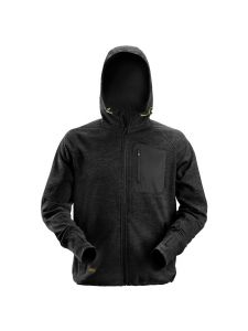 Snickers 8041 FlexiWork, Fleece Hoodie - Black