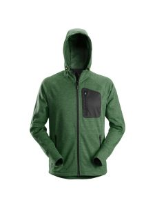 Snickers 8041 FlexiWork, Fleece Hoodie - Forest Green