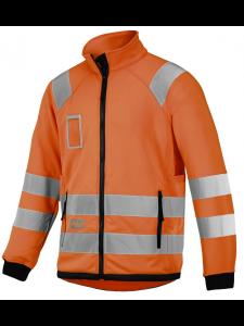 Snickers 8063 High Visibility Micro Fleece Jack Klasse 3 - High Vis Orange