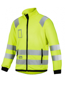 Snickers 8063 High Visibility Micro Fleece Jack Klasse 3 - High Vis Yellow