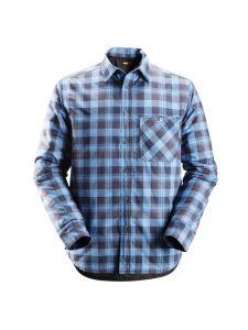 Snickers 8501 RuffWork, Geruit Gevoerd Flanellen Shirt l/m - Navy/Cloud Blue