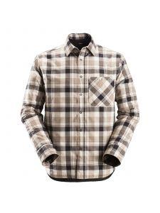 Snickers 8501 RuffWork, Geruit Gevoerd Flanellen Shirt l/m - Black/Khaki