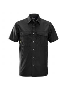 Snickers 8506 Rip-Stop Shirt s/s - Black