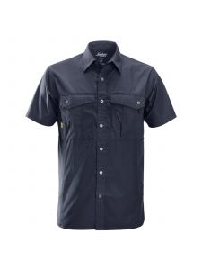 Snickers 8506 Rip-Stop Shirt s/s - Navy
