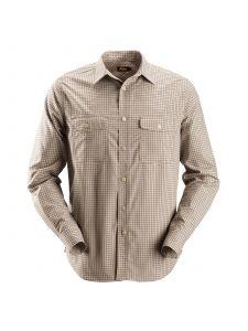 Snickers 8507 AllroundWork, Geruit Comfort Shirt l/m - Khaki
