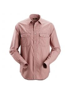 Snickers 8507 AllroundWork, Geruit Comfort Shirt l/m - Chili Red/Navy