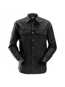 Snickers 8508 Rip-Stop Shirt l/s - Black