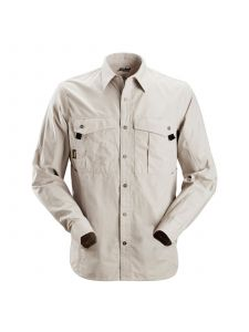 Snickers 8508 Rip-Stop Shirt l/s - Alum. Grey